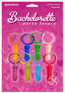 Bachelorette Party Favors Dicky Wine Charms Assorted Colors...